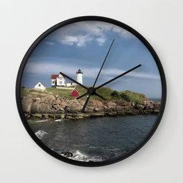 Nubble Lighthouse in Summer Wall Clock