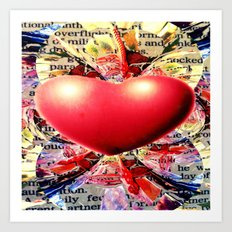 At the Very Heart of It. Art Print