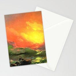 12,000pixel-500dpi - Ivan Aivazovsky - The Ninth Wave - Digital Remastered Edition Stationery Cards