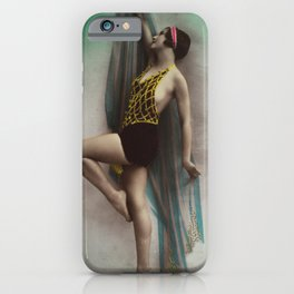 Victorian Vintage Posing Lady Erotic French Colour iPhone Case