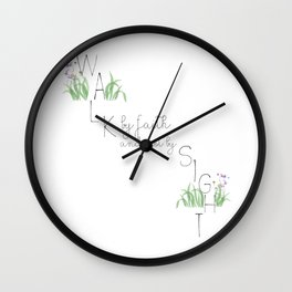 walk by faith Wall Clock