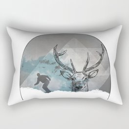 Cool Snowboarding Pattern Rectangular Pillow
