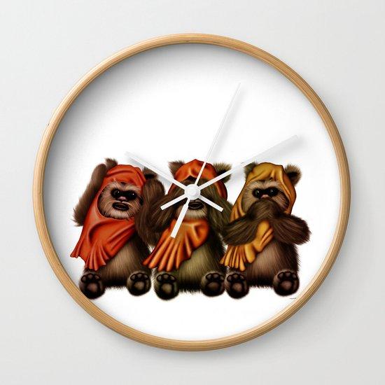 STAR WARS The Three Wise Ewoks Wall Clock