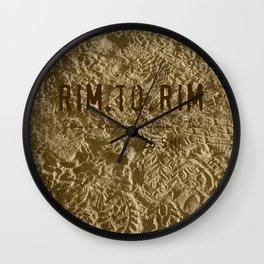 RIM TO RIM Wall Clock