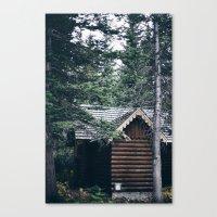 cabin Canvas Prints featuring Cabin by Garrett Lockhart