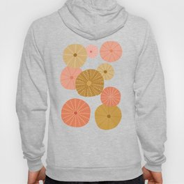 Sea Urchins in Coral + Gold Hoody