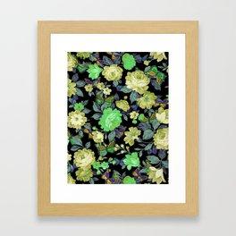 july roses & butterflies Framed Art Print