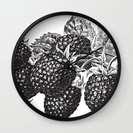 Vintage Blackberry Wall Clock