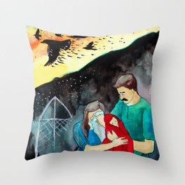 Seven Ravens: Chapter 1  Throw Pillow