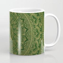 Mandala Royal - Green and Gold Coffee Mug
