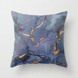 Mojave Purple Turquoise - an original encaustic painting Throw Pillow