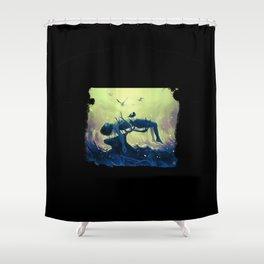 Hannibal death scene - Minnesota Shrike Shower Curtain