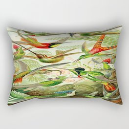 Kunstformen der Natur (Art Forms in Nature)a book of lithographic and halftones. Hummingbirds Rectangular Pillow