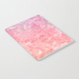 Rose & Gold Mother of Pearl Texture Notebook
