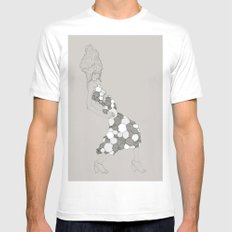 Japanese Couture Fashion Illustration MEDIUM Mens Fitted Tee White