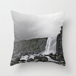 Öxarárfoss Throw Pillow
