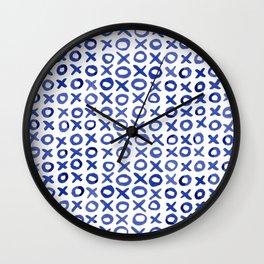 Xoxo valentine's day - blue Wall Clock