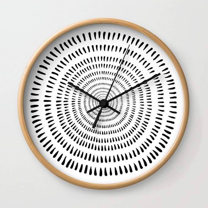 Fjorn on white Wall Clock