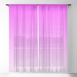 Pink Ombre flames Sheer Curtain