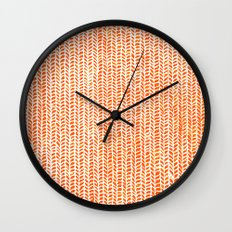 Stockinette Orange Wall Clock