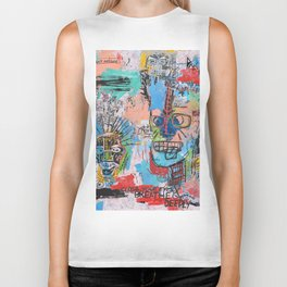 Close your eyes and breathe deeply Biker Tank