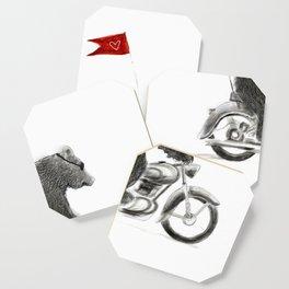 Motorcycle Bear Coaster