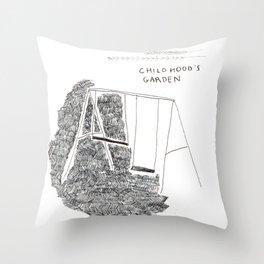 Childhood's garden Throw Pillow