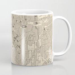Vintage Map of Sheffield England (1851) Coffee Mug