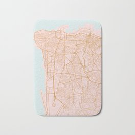 Beirut map Bath Mat