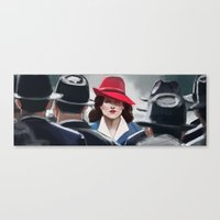 agent carter Canvas Prints featuring Agent Carter by IVIDraws