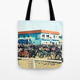 Bicycle Parking Lot Tote Bag