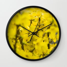 Yellow spring blooming Wall Clock