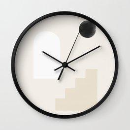 Black Sun Light Cyclades  Wall Clock