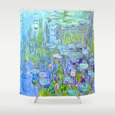 Water Lilies monet : Nympheas Shower Curtain