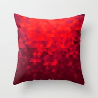 blood Throw Pillows featuring Blood by T.Fischer