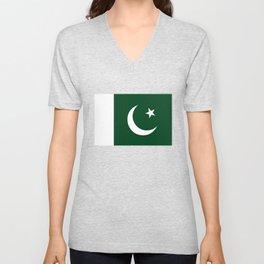 The National Flag of Pakistan - Authentic Version Unisex V-Neck