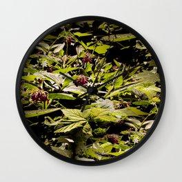 Wild Comfrey & Blackberries.... Wall Clock