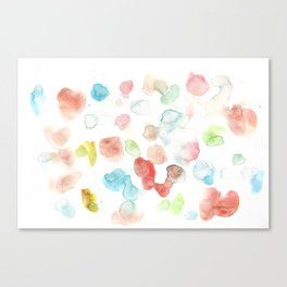 170722 Colour Living 27 |Modern Watercolor Art | Abstract Watercolors Canvas Print