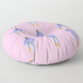 Hotline bling (pink) Floor Pillow