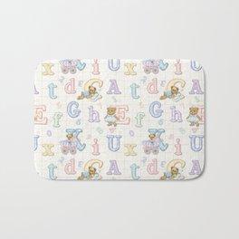 Teddy Bear Alphabet ABC's Bath Mat