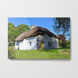 Thatched Cottage Metal Print
