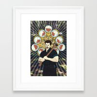ron swanson Framed Art Prints featuring Ron Swanson by yakawonis