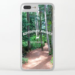 Adventure - go find it Clear iPhone Case