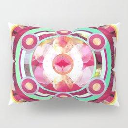 Pink and Turquoise Mandala Pillow Sham