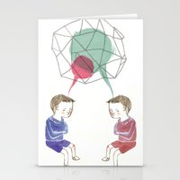twins Stationery Cards featuring Twins by Valentina Gruer