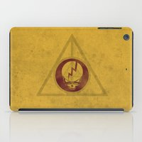 deathly hallows iPad Cases featuring Grateful Deathly Hallows by jerbing