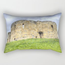 York Castle And Daffodils Rectangular Pillow