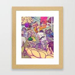 Street Brawler Framed Art Print