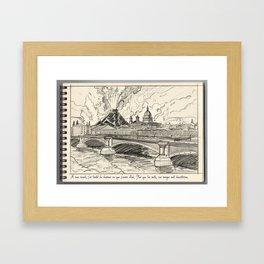 The Volcano of London  Framed Art Print
