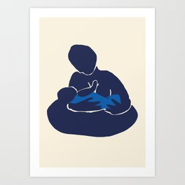 Mother and Child I (After Matisse) Art Print